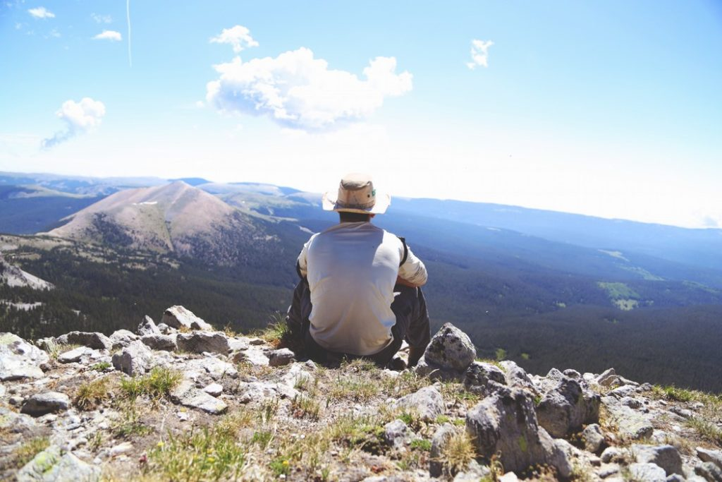 hiker thinking of drug detox possibilities