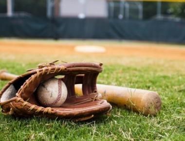 Baseball, gloves and its bat.