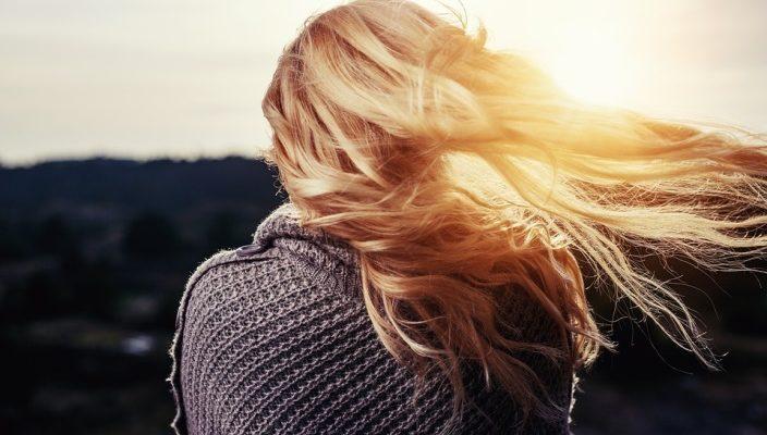 Girl Hair Blowing Blonde