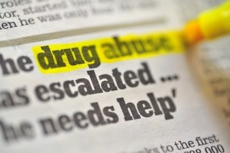 drug abuse highlighted newspaper