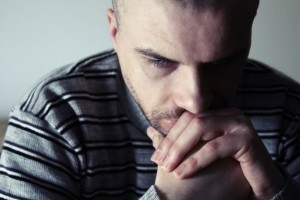 sad and distressed man