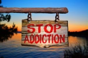 stop addiction sign